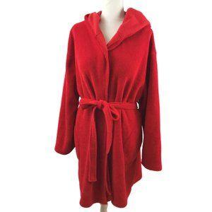 Victoria's Secret Fleece Robe Red